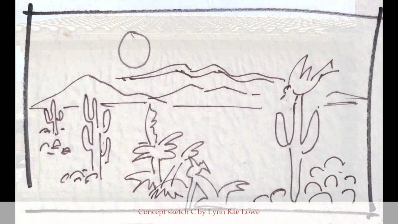 It's just a photo of Sizzling Desert Scene Drawing
