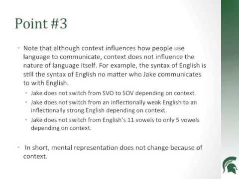 Part 3: What Everyone Should Know about Second Language Acquisition.