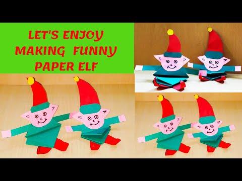 CHRISTMAS PAPER ELF FOR KIDS FUN ACTIVITY || EASY ELF Craft Ideas || Christmas Decoration ELF -DIY