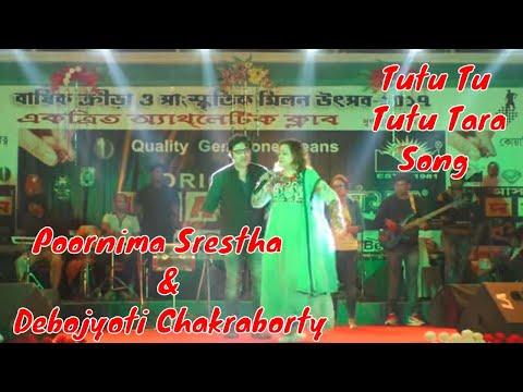 Tutu Tu Tutu Tara Song By Poornima Srestha & Debojyoti Chakraborty Live At Durgapur