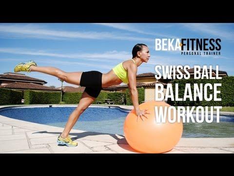 Swiss Ball Balance Workout- Rebeca Martinez