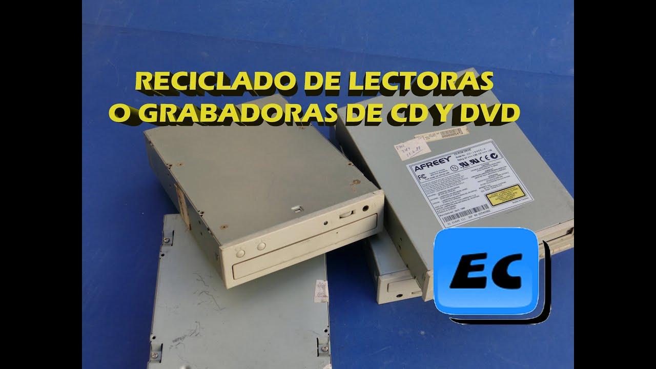 Reciclar una lectora o grabadora cd dvd vieja o rota que for Como reciclar una mesa de tv vieja