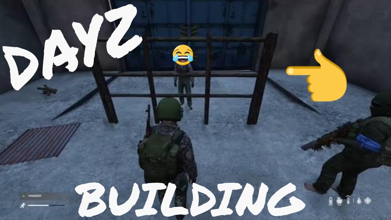Dayz Xbox base building  How to Build a wall😂 funny