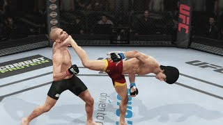 EA UFC (PS4) Gameplay: Bruce Lee vs Renan Barao (Bantamweight) 5 Rounds