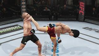 EA UFC PS4 Gameplay Bruce Lee Vs Renan Barao Bantamweight 5 Rounds