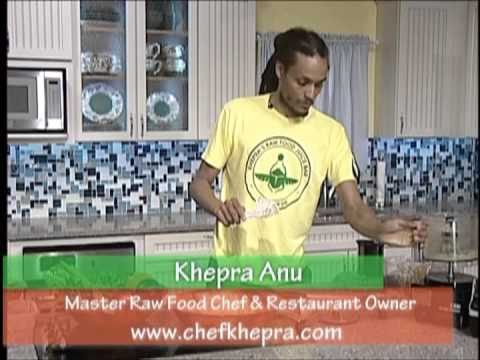 Master Raw Food Chef Khepra Anu in our TV Show Healthy Food Happy You.