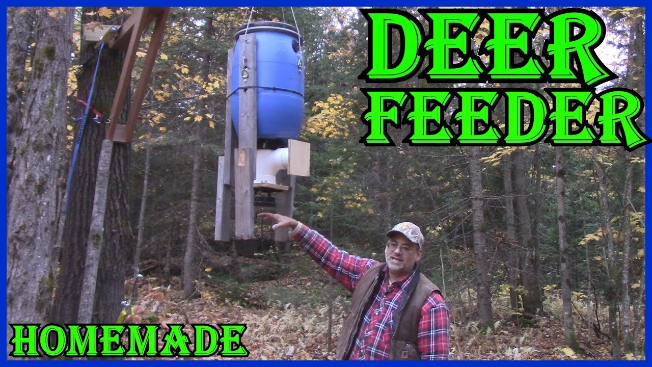 HOMEMADE DEER FEEDER  HANGER With  Moultrie MFHP12367 All In One Timer Kit