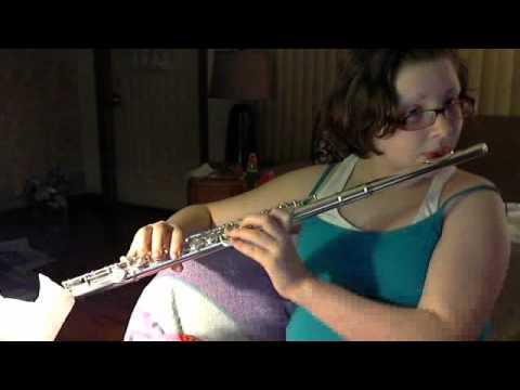 Worth junior high school song on flute (Worth rams)