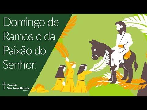 14/04/2019 - Paróquia São João Batista - Domingo de Ramos e Paixão do Senhor