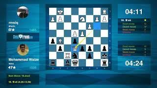 Chess Game Analysis: rmsiq - Mohammad Waize : 0-1 (By ChessFriends.com)