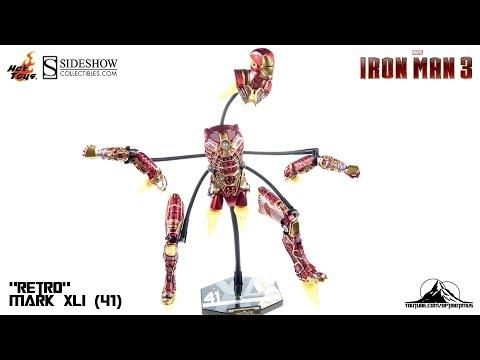 "Optibotimus Reviews: Hot Toys Iron Man 3 RETRO Mark XLI (41) ""BONES"""