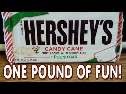 Junk Food: Hershey's 1 Pound Candy Cane Bar Eating Stunt (2000 Calories) | FreakEating Bucket List