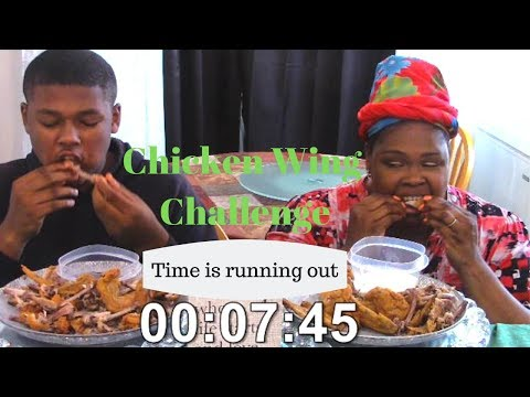 10 Whole Wings in 10 Minutes Challenge by Sam's World