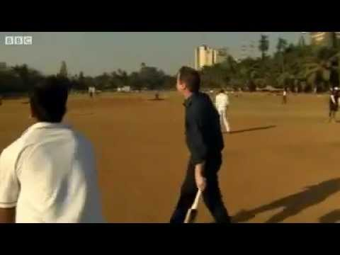 David Cameron Playing Cricket in India