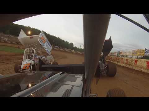 Path Valley Pa. 305 sprint series feature 6-2-18  race part 1