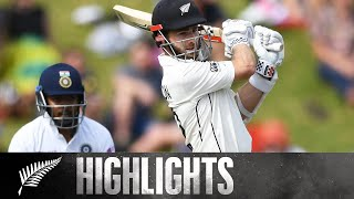 Williamson and Taylor Give NZ Lead | FULL HIGHLIGHTS | BLACKCAPS v India | 1st Test - Day 2, 2020
