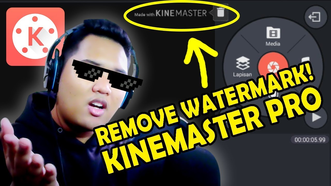 TUTORIAL CARA MENGHILANGKAN WATERMARK KINEMASTER - NO ROOT!