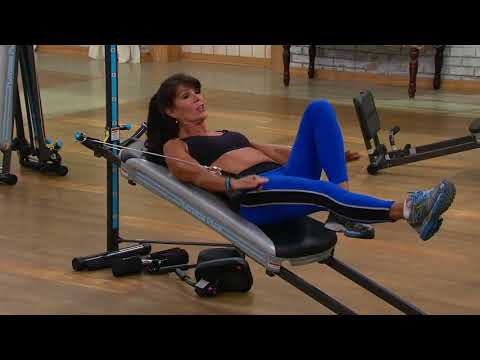Total Gym Platinum Plus With 4 DVDs & 5 Accessories On QVC