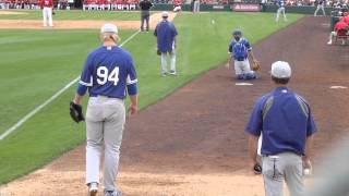 Dodgers No. 1 pick Chris Anderson warms up in bullpen in spring game