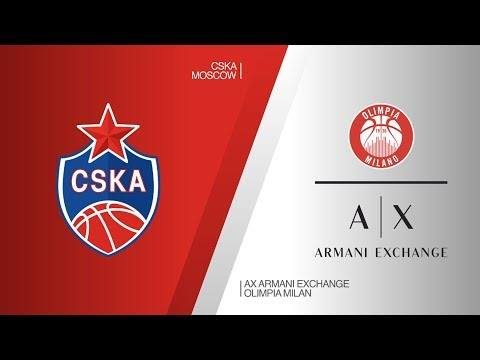 CSKA Moscow - AX Armani Exchange Olimpia Milan Highlights | Turkish Airlines EuroLeague RS Round 25