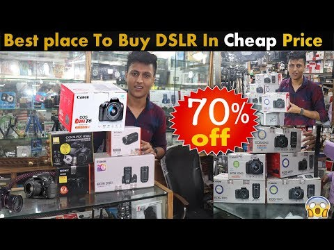 BRAND NEW DSLR AT 70% DISCOUNT | DSLR IN CHEAP PRICE | DSLR MARKET | BEST PLACE TO BUY DSLR   |