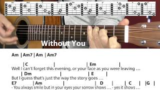 Скачать Without You Harry Nilsson Mariah Carey Whitney Houston Cover Chords Lyrics Guitar Lesson