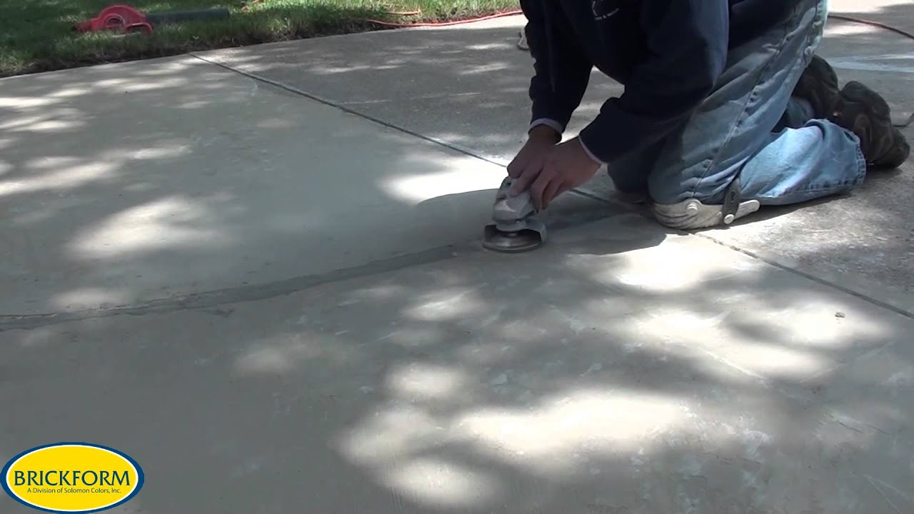 How To Resurface Cracked Concrete With BRICKFORM Overlay   YouTube