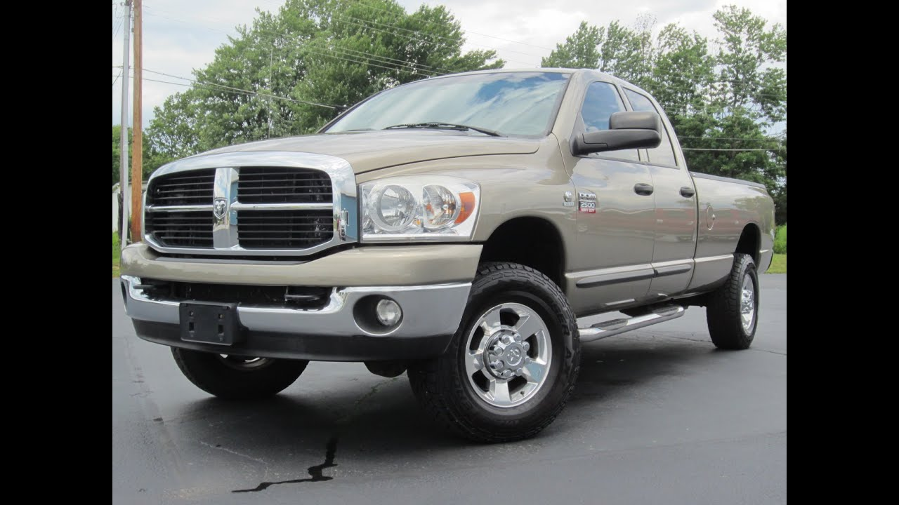 2007 dodge ram 2500 slt 5 9l cummins diesel quad cab long bed sold youtube. Black Bedroom Furniture Sets. Home Design Ideas