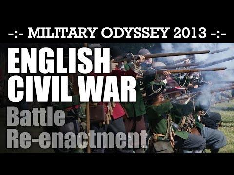 English Civil War Reenactment Battle Display! BIGGEST EVER! Military Odyssey 2013   HD Video