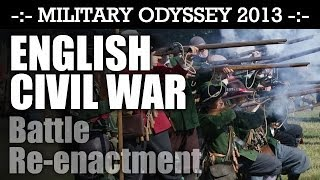 English Civil War Reenactment Battle Display! BIGGEST EVER! Military Odyssey 2013 | HD Video
