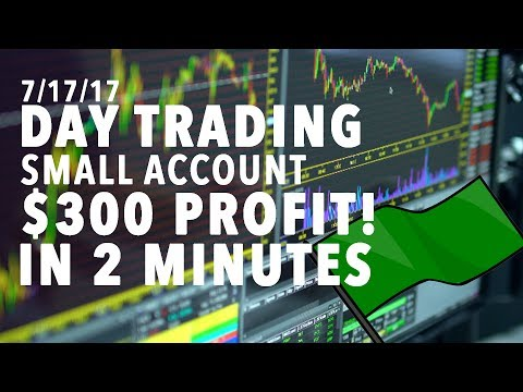 Day Trading Small Account LIVE $300 PROFIT IN 2 MINUTES RESISTANCE BREAK!