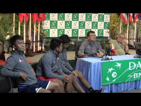 Davis cup2017 THA VS PHI Press conference