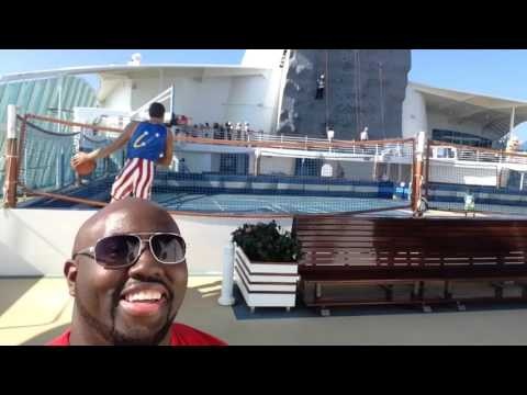 Royal Caribbean Sports Deck Tour