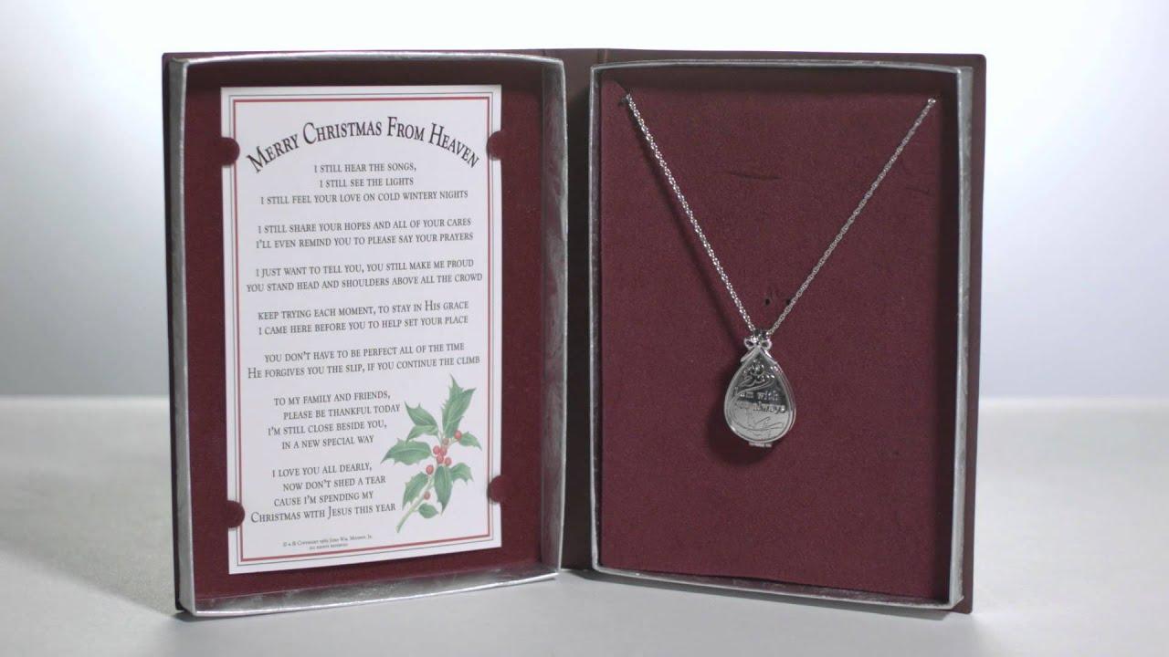 Christmas From Heaven.Merry Christmas From Heaven Keepsake Locket W Memory Box The Catholic Company