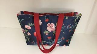 Coudre un sac Tote Bag avec fermeture éclair - Tuto Couture Madalena