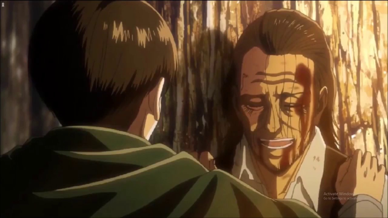 Kenny S Death Scene Attack On Titan Season 3 Episode 10 Levi Kenny S Backstory Youtube