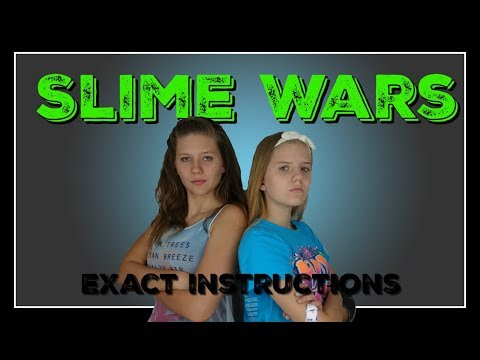 SLIME WARS EXACT INSTRUCTIONS || SLIME CHALLENGE || Taylor a