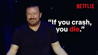 What Ricky Gervais Hates About Flying