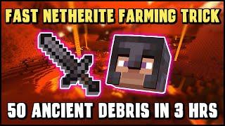 FASTEST Way to Get Netherite / Ancient Debris (Best Gear in Minecraft) - No TNT Needed!
