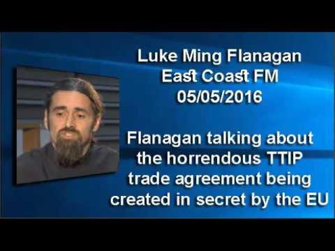 Luke Ming Flanagan, TTIP interview on East Coast FM