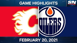 NHL Game Highlights | Flames vs. Oilers - Feb. 20, 2021