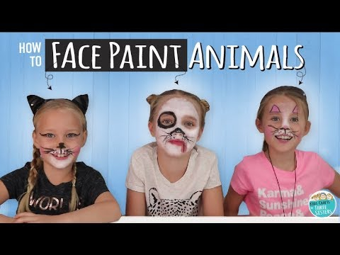 How To Face Paint A Bunny + Cat + Dog  |  Arteza Face Paint For Kids