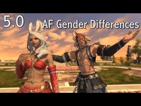 FFXIV: Dancer AF Gear Gender Differences