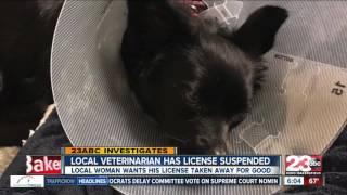 Local veterinarian has his license suspended