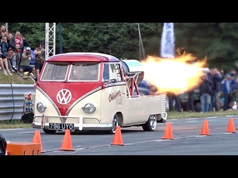 Oklahoma Willy Jet Bus - 132mph 1/4 mile run at EBI 7