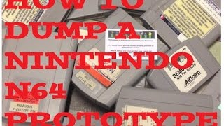 How To Dump A Nintendo N64 Prototype