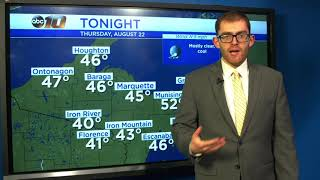 Upper Peninsula Weather Forecast - August 22, 2019