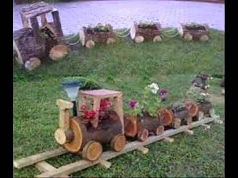 Como reciclar troncos we are we youtube for Como decorar un arbol de jardin