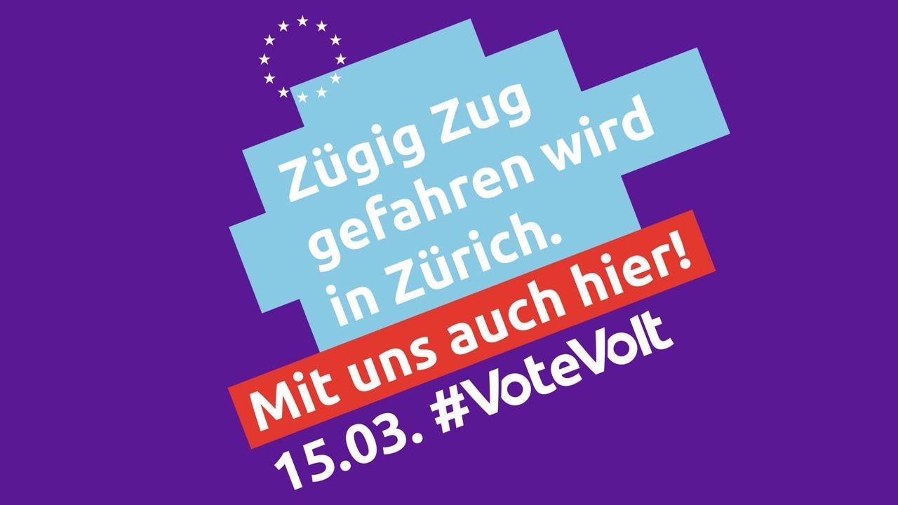 Zügig Zug gefahren wird in Zürich – Mit uns auch in München! #VoteVolt