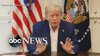 Trump posts video message from hospital